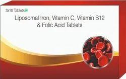 Liposomal Iron, Vitamin C, Vitamin B12 & Folic Acid Tablets