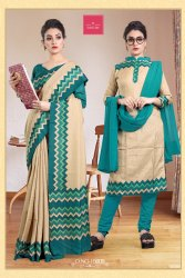 School Teachers Uniform Saree