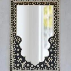 黑色玻璃矩形设计师镜子,为家