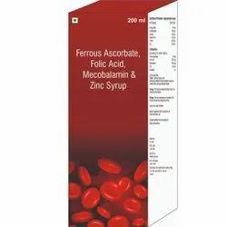 Ferrous Ascorbate, Folic Acid, Mecobalamin & Zinc Syrup