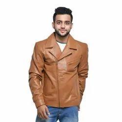 Brown MJ-09 Sheep Napa Tan Leather Jacket