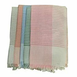Pink Check Cotton Towel, Rectngular, Size: 30x60inch