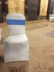 Lycra,Crush White Spandex Chair Cover, For Wedding, 140
