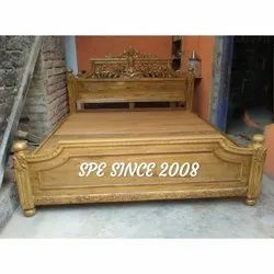 King Size Wooden Cot Bed