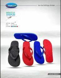 Casual Wear Mens Plain Rubber Slipper, Size: 6