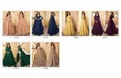 Wedding,Party 6 color ANK Enterprise Heavy Net Long Party Wear Anarkali Gown