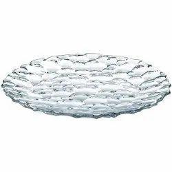 Transparent Round Bubble Glass Snack Platter