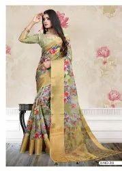 Cotton Digital Printed Saree