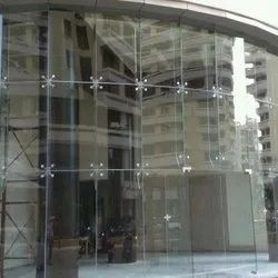 Four Way Spider Glass Fitting Work