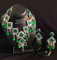 Green Copper Bollywood Style Artificial Jewellery For Women Jewellery