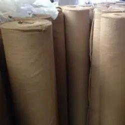 Plain Cotton Laminated Jute Fabric, For Mattress
