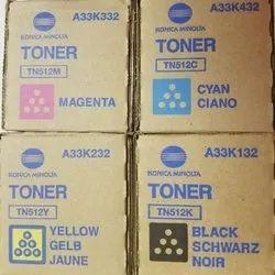 Genuine Konica Minolta TN-512 CYMK Toner Cartridge Set For Bizhub C454 C554