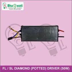 50W Street Light / Flood Light Diamond (Potted) Driver