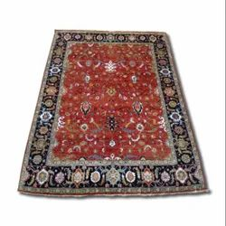 Multicolor Hand Knotted Traditional Design Woolen Carpets, Rectangular, Size: 8ft X 10ft