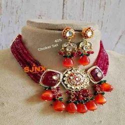 Traditional Indian Kundan Set For Women And Girl Bijoux