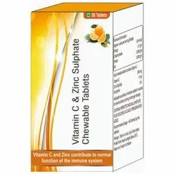 Vitamin C & Zinc Sulphate Chewable Tablets