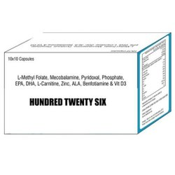 L Methyl Folate Mecobalamine Pyridoxal Phosphate EPA DHA L Carnitine Zinc ALA Benfotiamine & Vit D3