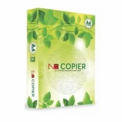 White 75 GSM NR A4 Size Copier Paper, Packaging Size: 500 Sheets per pack, Packaging Type: Packet