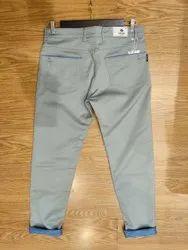 Plain Slim Fit Reactive Cotton Jeans Pents
