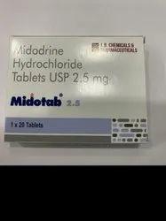 Midotab 2.5 mg Tablets