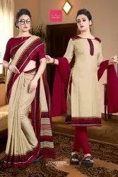 Uniform Sarees Salwar Combo