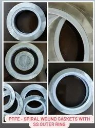 Stainless Steel Spiral Wound Gasket, Thickness: 2-5mm