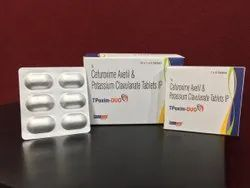 Cefuroxime Axetil 500 Mg And Potassium Clavulanate  Diluted 125 Mg
