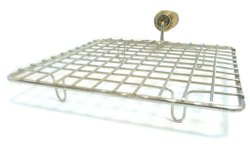 Stainless Steel Square Roaster With Wooden Handle