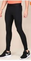 Black Straight Fit Women And Mens Sports Tights