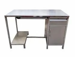 Stainless Steel Computer Table, Size: 1200 X 600 X 750 Mm