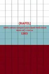 Rafel 100% Cotton Compact Yarn Dyed Twill Check Shirting Fabric