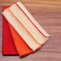 Strips Cotton Woven Kitchen Towel Tea Towels, For Cleaning, Size: 40*40cm,40*60cm