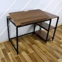 Modern Drafting Desk Drawing, Laptop Study Table With 2 Storage Shelf