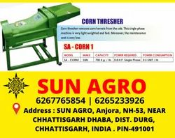 Electric Iron Sun Agro Maize Sheller Threshing Machine, For Agriculture & Farming, MOTOR TYPE
