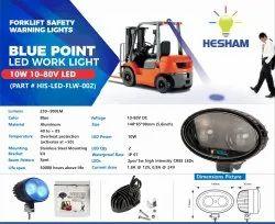 HESHAM 10 Blue Spot Light for Forklift, Model Name/Number: HIS-LED-FLW-002, Base Type: 2 Wire