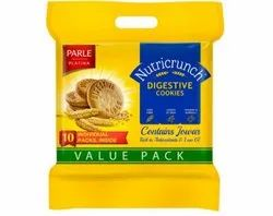 Parle Nutri crunch Biscuits, Packaging Type: Pack, Packaging Size: 10