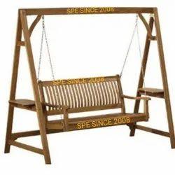 Teak Wood Stand Swing Set
