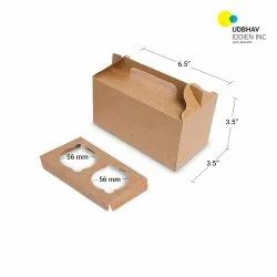 Two Cup Cake Box 6.5 x 3.5 x 3.5 Inch