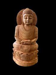 Gautam Buddha Wooden Murti 10 Inch