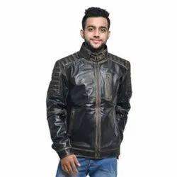 Sheep Rub Black Leather Jacket
