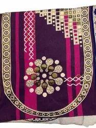Purple Rectangular Cotton Sofa Cover, Size: 23x27inch