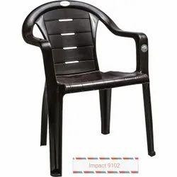 Black Plastic Visitor Chair