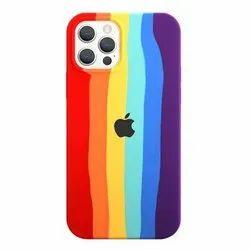 Silicone Rainbow Coloured Soft Silicon Case Cover for iPhone 12 Pro Max