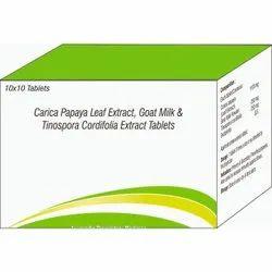 Carica Papaya Leaf Extract, Goat Milk & Tinospora Cordifoila Extract Tablets