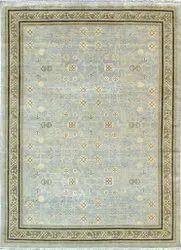 Cotton Rectangular Faf Carpet FAF00196 Hand Knotted Oushak Rug, For Home