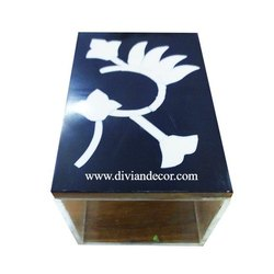 Bone Inlay & Acrylic Box, Rectangle