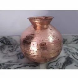 Hammered Copper Water Pot, For Home, Capacity: 10 Litre