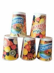 Printed Disposable Paper Juice Glass