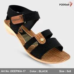 PU Black,棕色紫罗兰色Poddar女士凉鞋,大小:36-40
