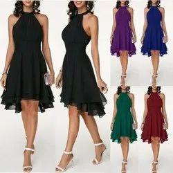 Mix Color Chiffon Dress Manufacturers